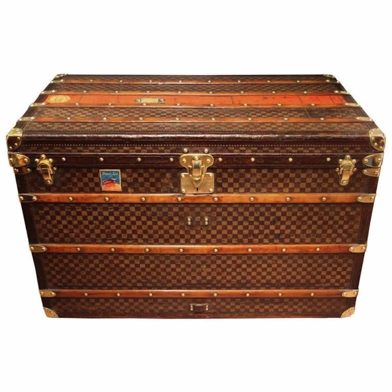 1890s LV Steamer Trunk