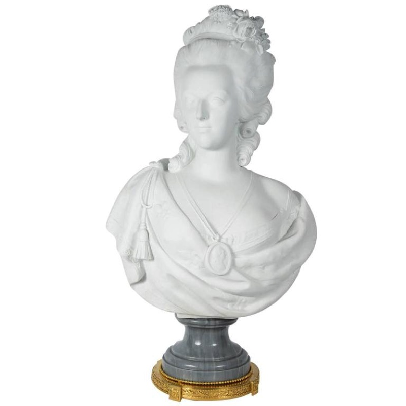 Late 19th century Bisquit Bust of Marie Antoinette