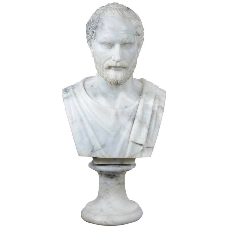 Well-carved Alabaster Bust of Sophocle