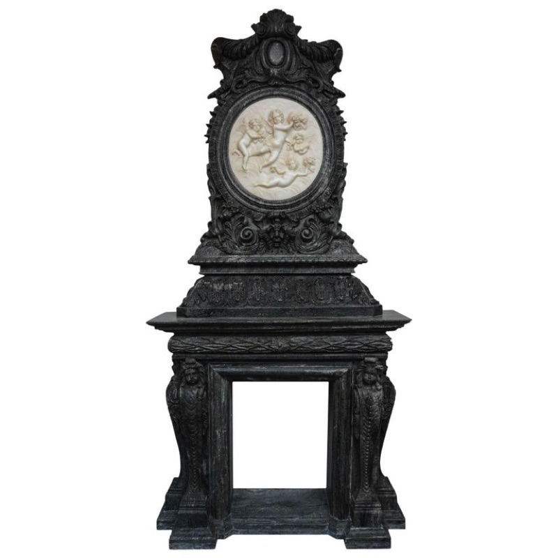 Ornamental Fire-Surround in Marble 20th Century