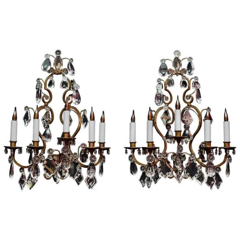 Pair of Wall Sconces Louis XV Style 19th century