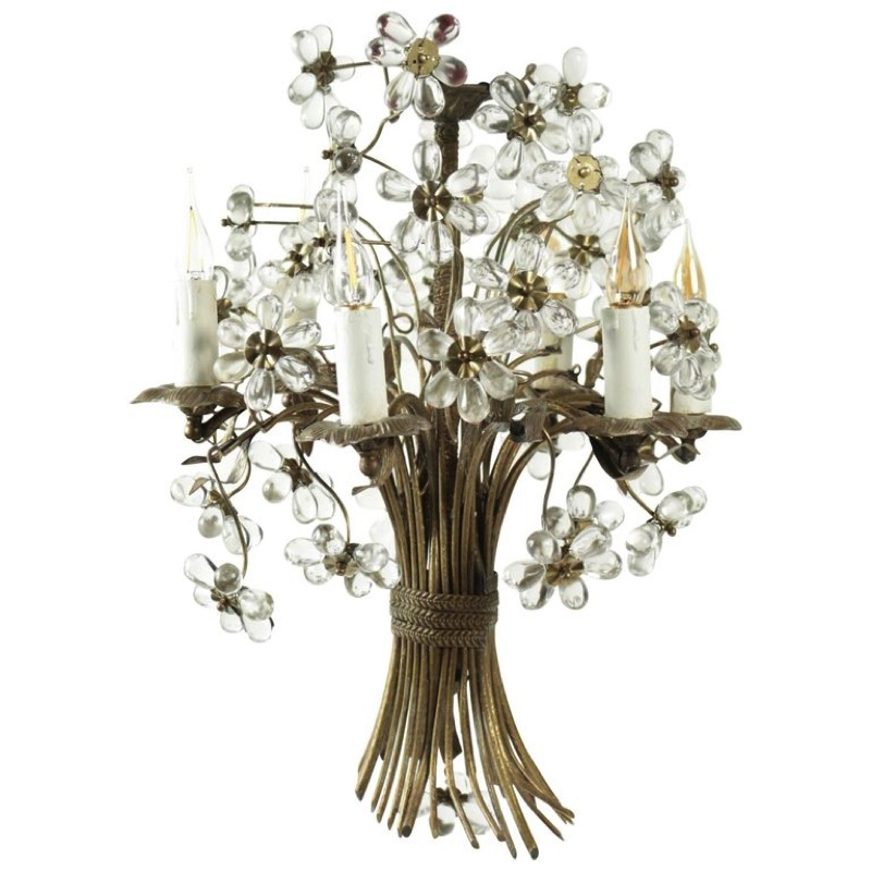 Stunning Bronze and Crystal Chandelier beginning of the 20th
