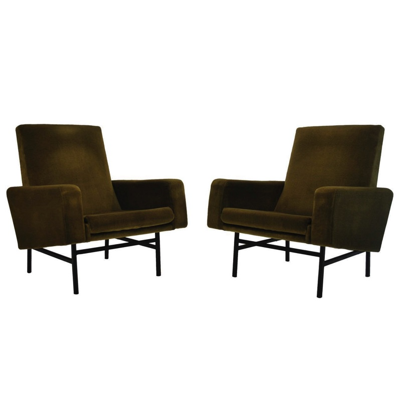 Rare Pair of Model 645 Armchairs