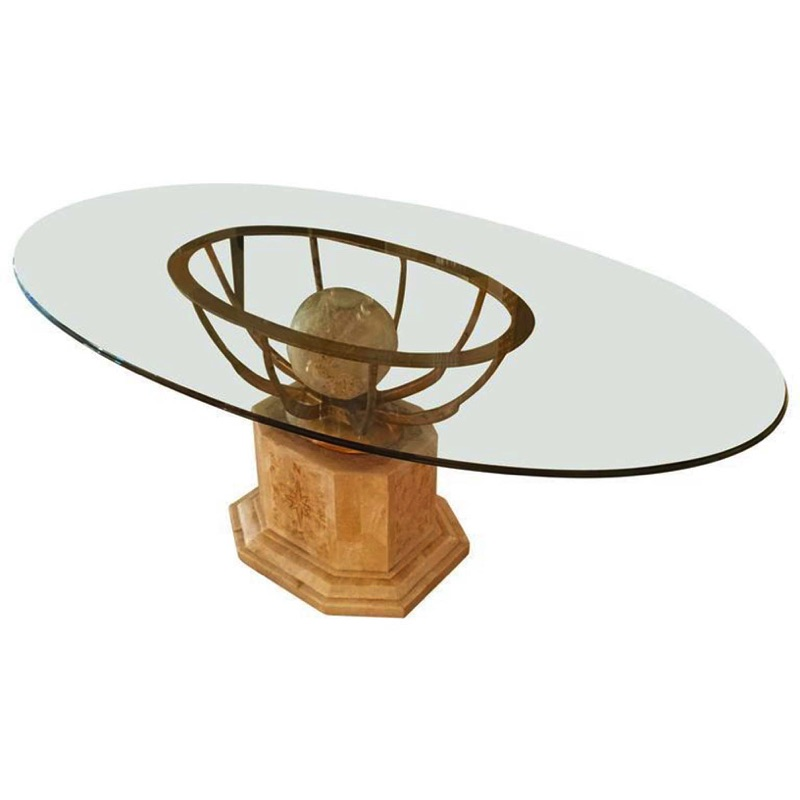 Oval 1970s Dining Table