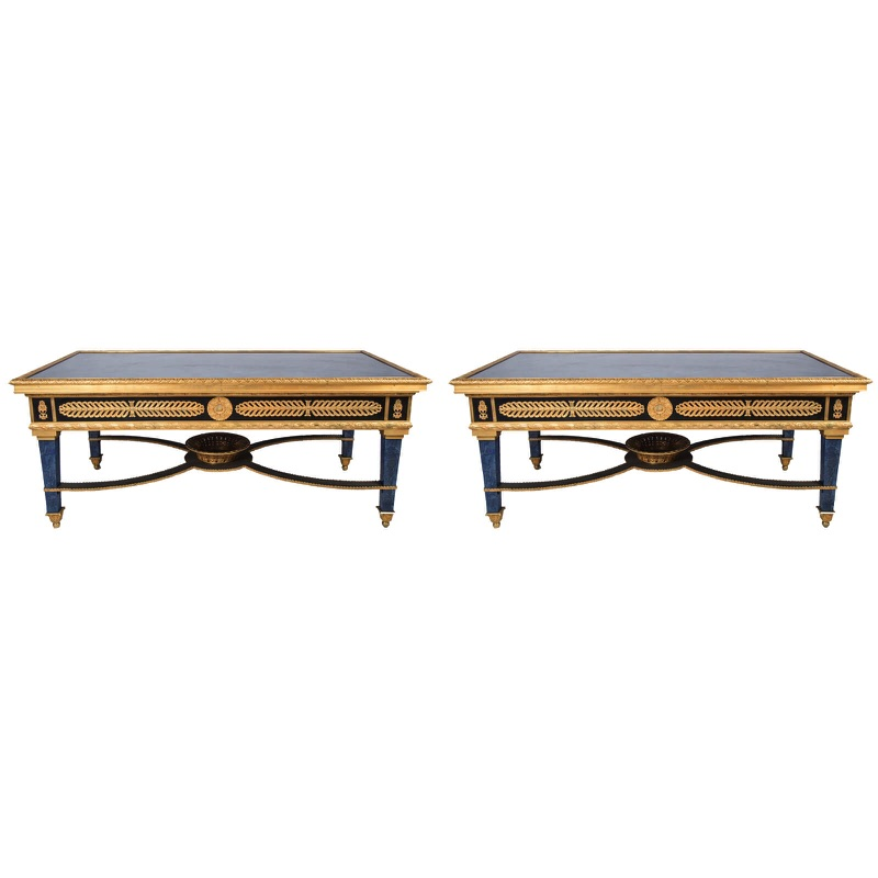 Pair of Louis XVI Style Low Tables 20th century