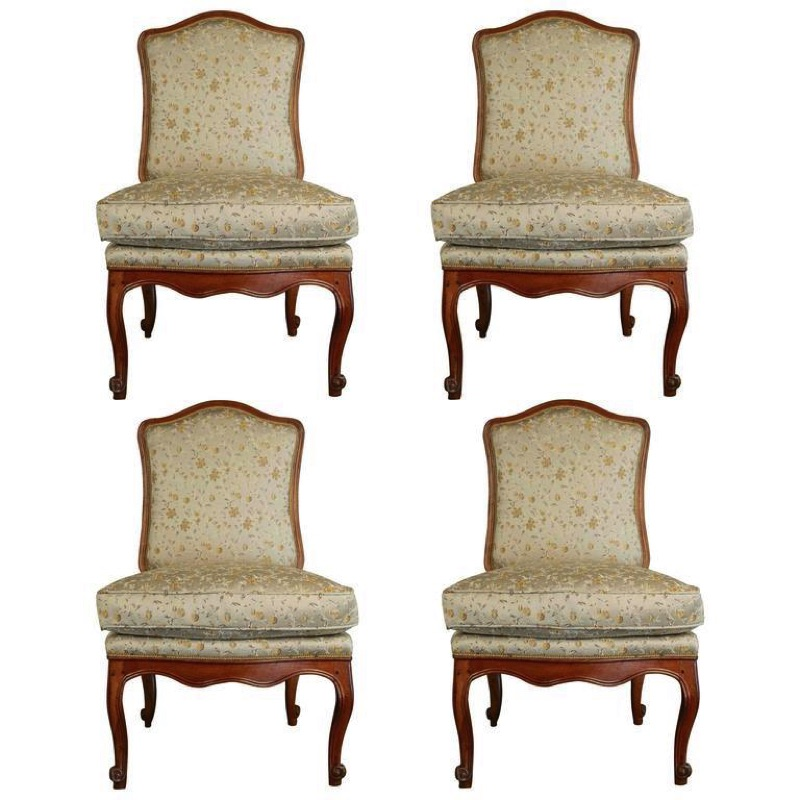Set of Four French Regency Chairs