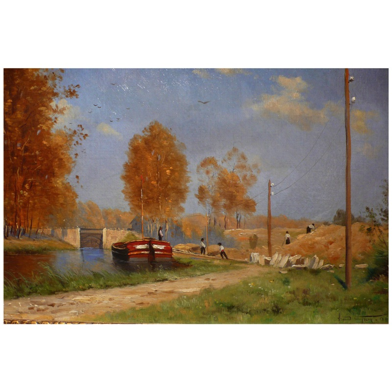 The Barge on the Canal 1891