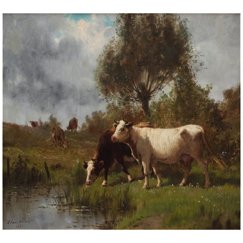 Cows at the Pasture 19th century