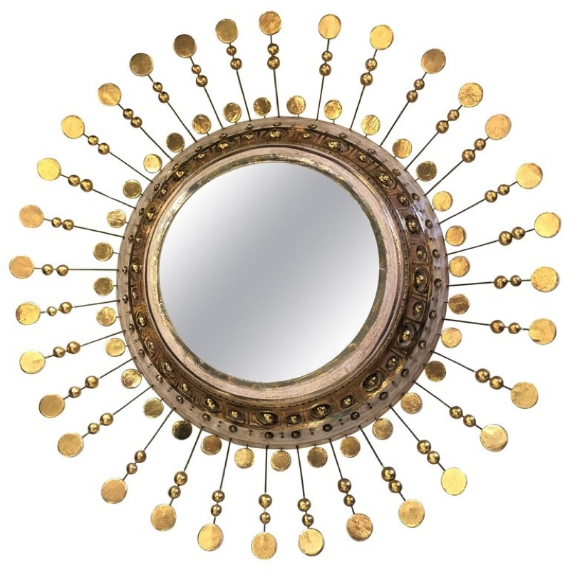Georges Pelletier Fantastic Ceramic Mirror