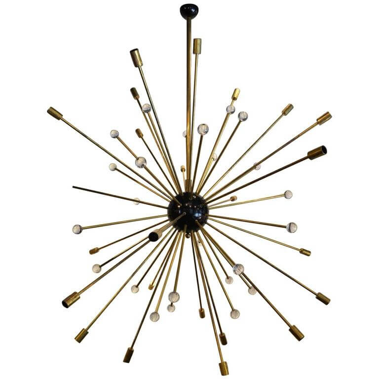 Huge Italian Sputnik Chandelier in the Style of Stilnovo