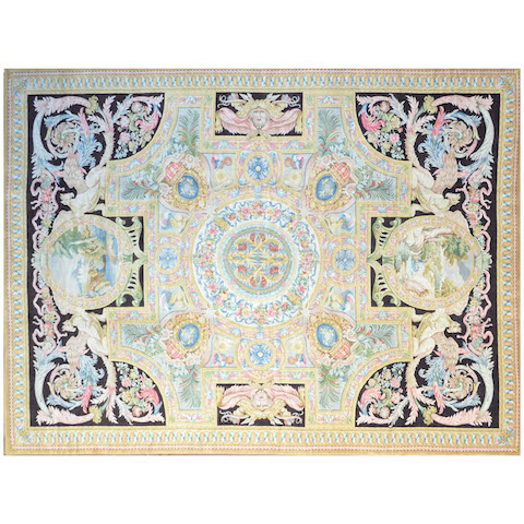 Splendid Savonnerie Knot-Carpet, 20th Century