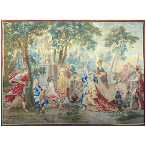 Sublime Brussels Weaving Tapestry, 18th Century