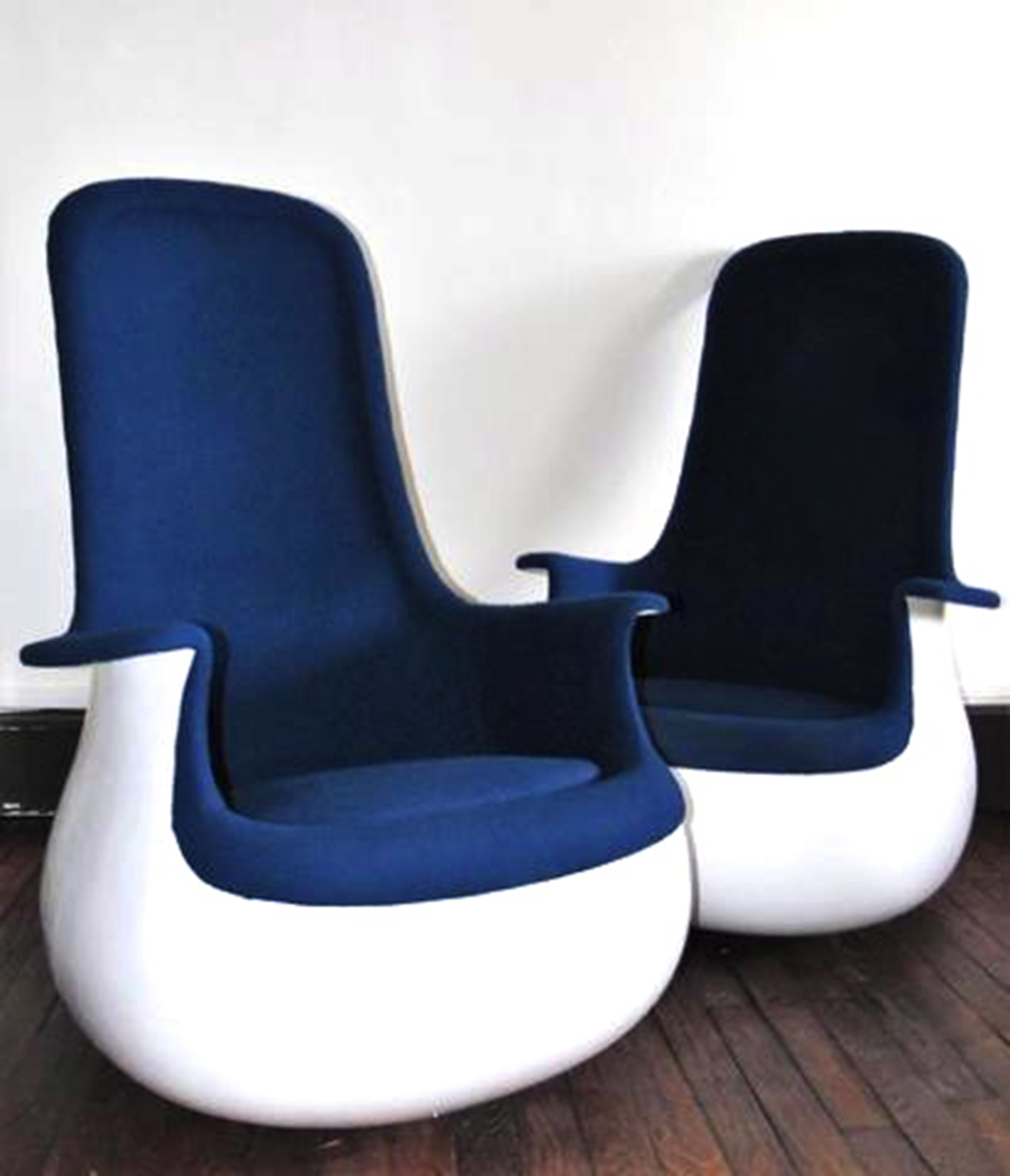 Pair of Marc Held Culbuto Armchairs for Knoll