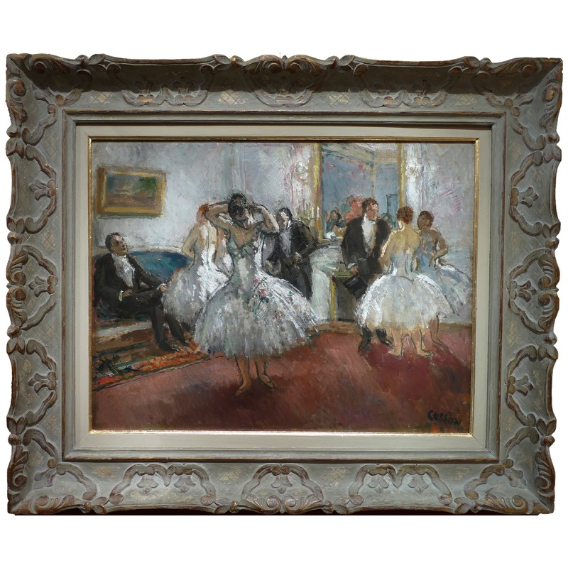 """""""At the Ritz Salon"""" by Marcel Cosson, early 20th Century"""