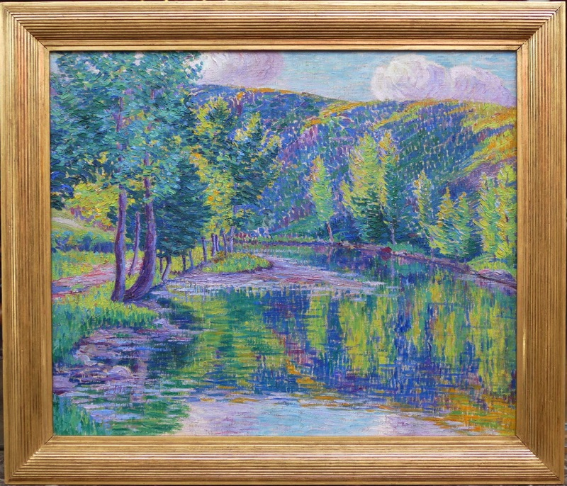 """""""The Valley of the Creuse"""", by Léon Detroy, 20th Century"""
