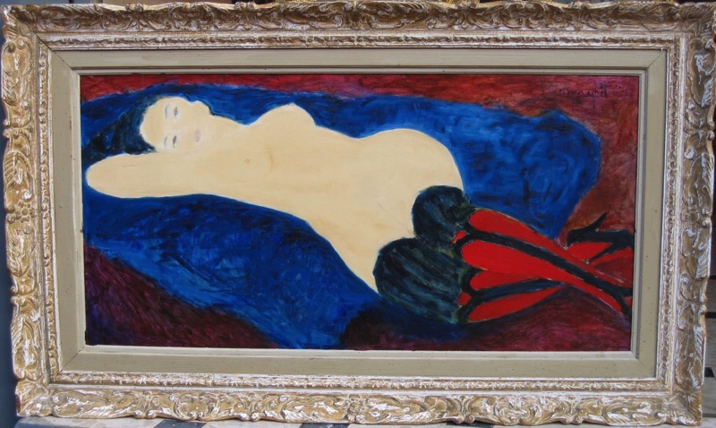 Nude with Red Stockings 1967
